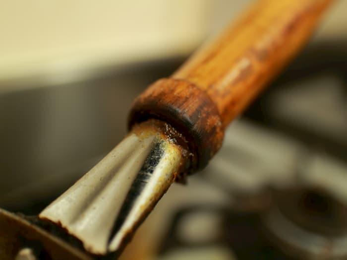 中華鍋の木の柄