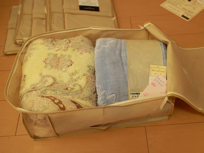 タオルケットの収納