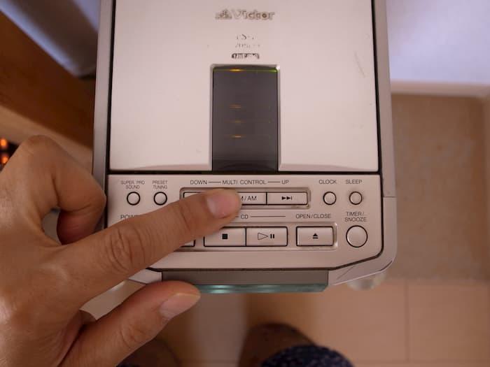 ビクターFS-1のボタン