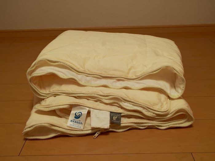 洗える布団の側地